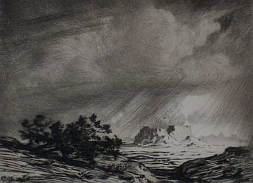 "Print: ""Storm in the Painted Desert"" by George Elbert Burr"