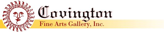 Logo for Covington Fine Arts Gallery of prints, paintings and watercolors