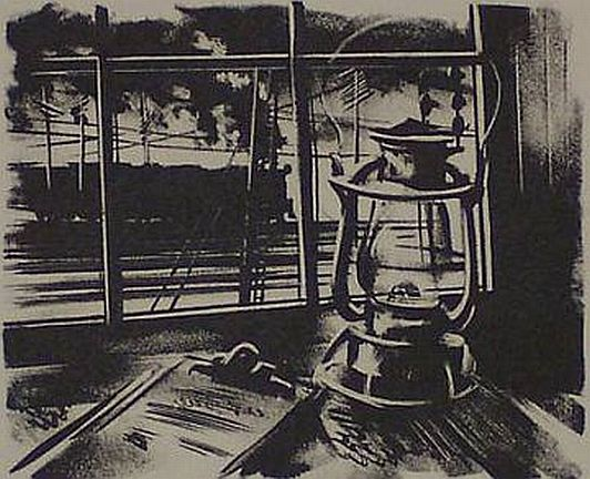 "Print: ""Caboose Window"" by Edwin Fulwider"