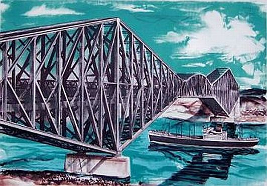 "Print: ""Quebec Bridge"" by Edwin Fulwider"