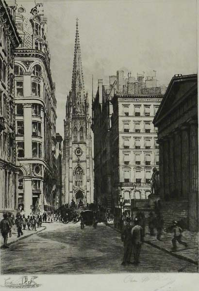 Wall Street Looking West by Charles Mielatz