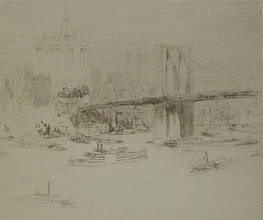 "William Walcot Print: ""Brooklyn Bridge"""