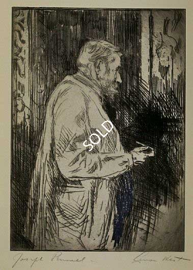 "Print: ""Portrait of Joseph Pennell"" by Levon West"