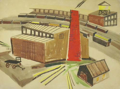 Industrial area and Train Yard by Philip Curtis