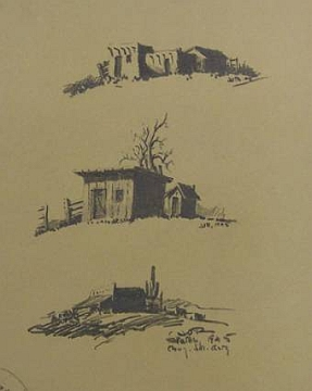 "Print #19: ""Three Desert Sketches"" by Jack Van Ryder"